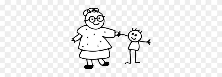 Mom Holding Childs Hand - Mum Clipart