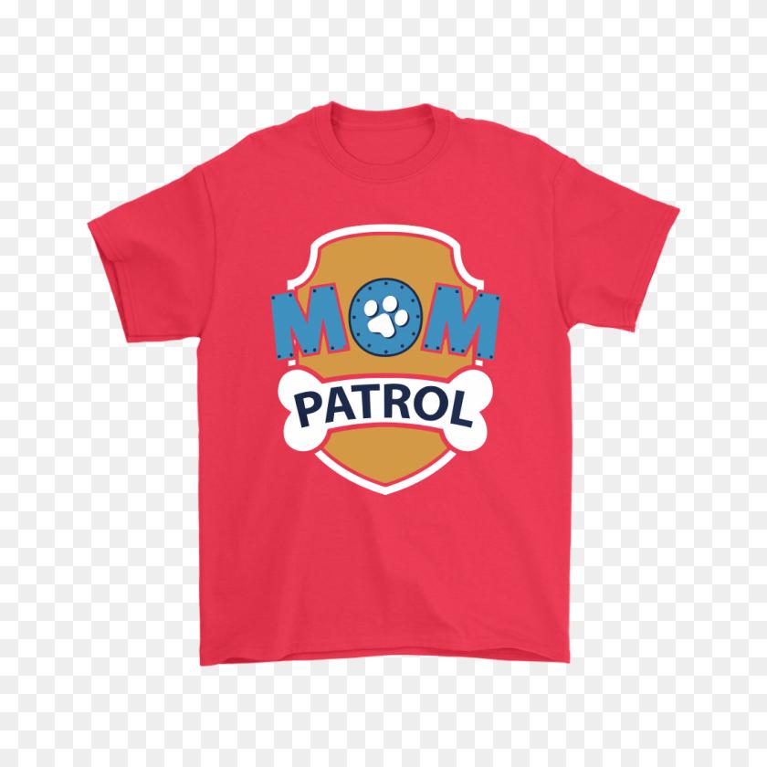 Mom Patrol Puppy Mom Protection Paw Patrol Shirts Teeqq Store - Paw Patrol Bone PNG