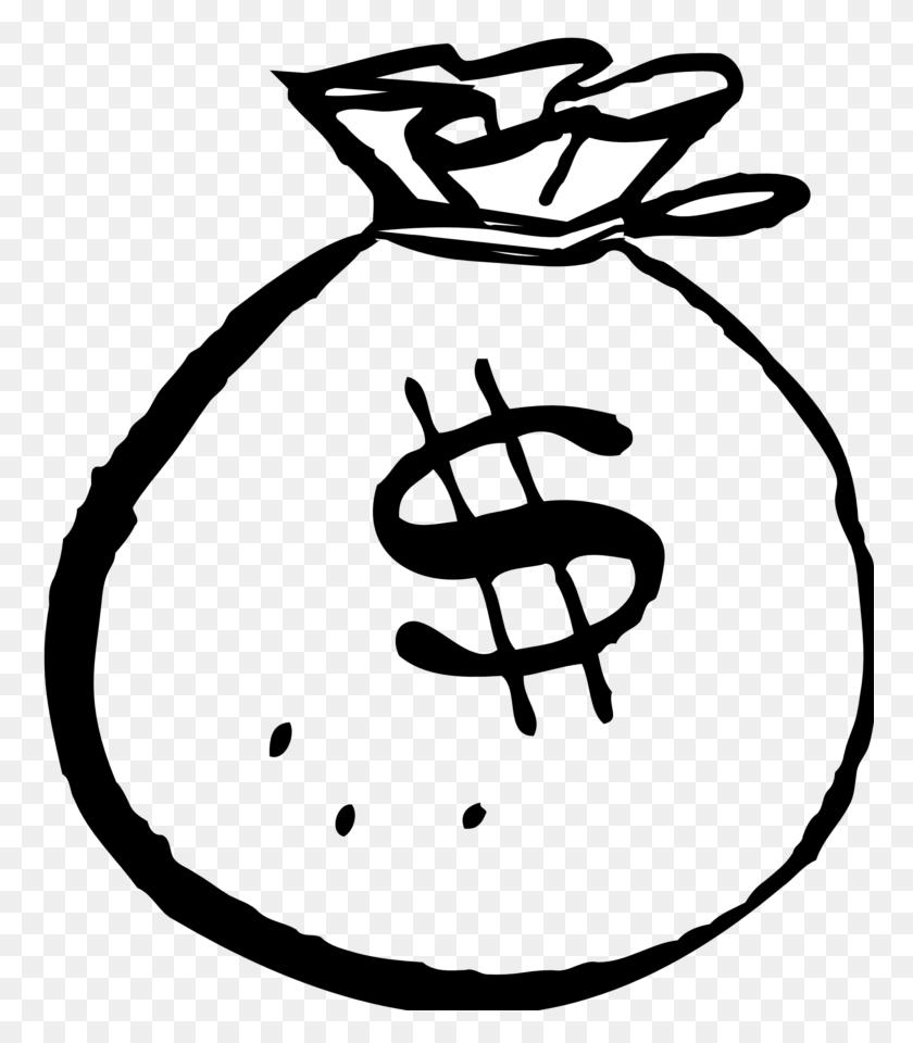 Money Black And White Money Clip Art Black And White Free Clipart - Money Bag Clipart PNG
