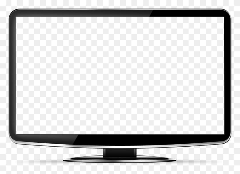 850x600 Monitors Png Images, Monitor Png Image, Lcd Display Png - Tv Screen PNG