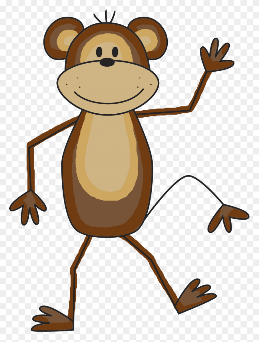 Hanging - Monkey - Clipart - Monkey Hanging From A Tree - 2329x2047  Wallpaper - teahub.io