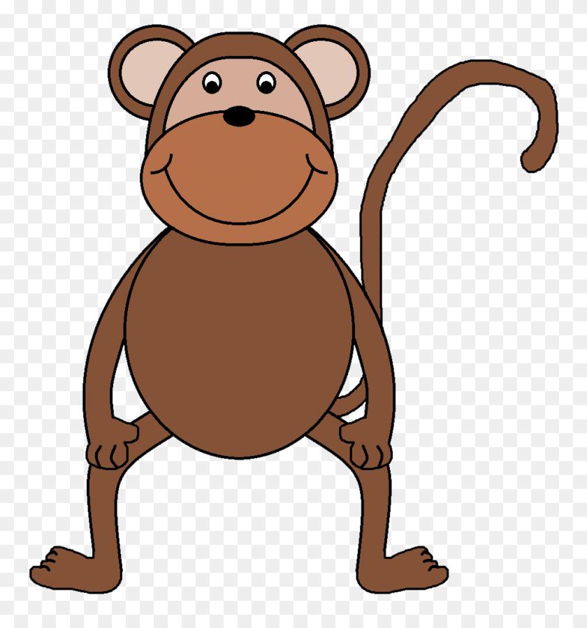 Monkey Clip Art Outline Free Clipart Images - Monkey Clipart Images