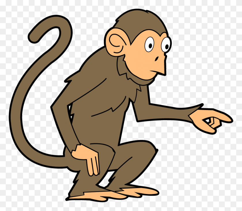Monkey Cliparts - Swinging Monkey Clipart