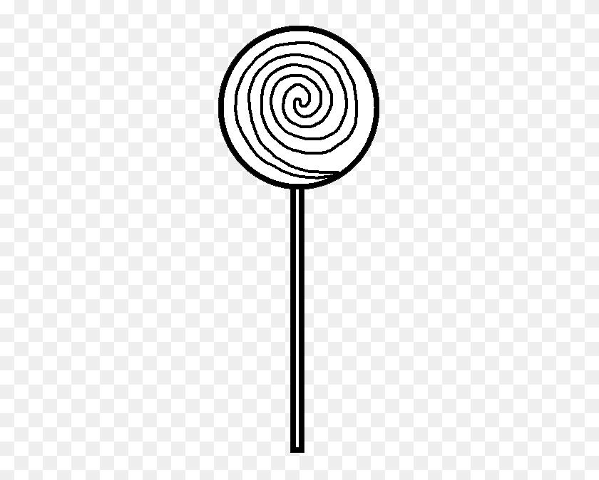 260x614 Monochrome Clipart Lollipop - Lollipop Clipart Free