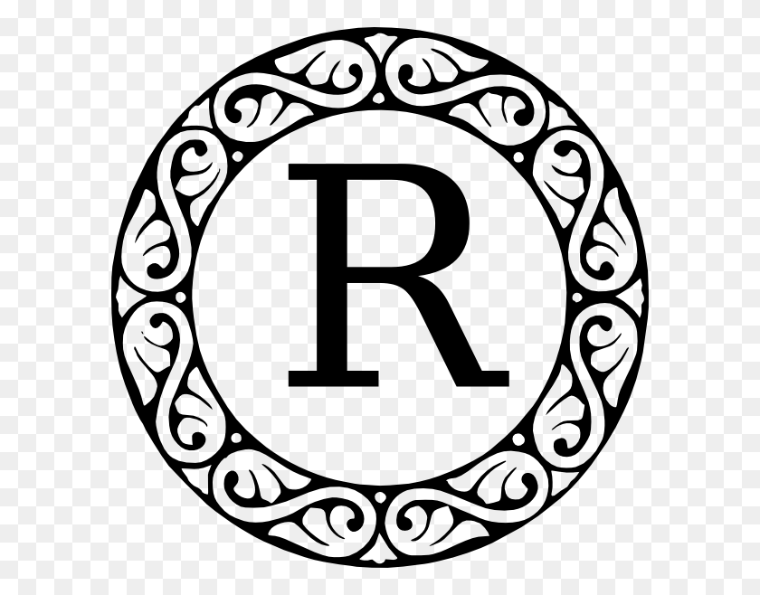 Monogram Letter R Png, Clip Art For Web - Letter Clipart Black And White
