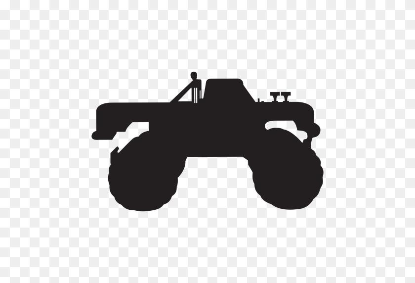 512x512 Monster Truck Silhouette - Monster Jam PNG