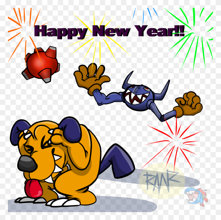 Monsterous On Twitter Happy New Year! There's Not A Lot Of Art - New Year 2018 Clipart