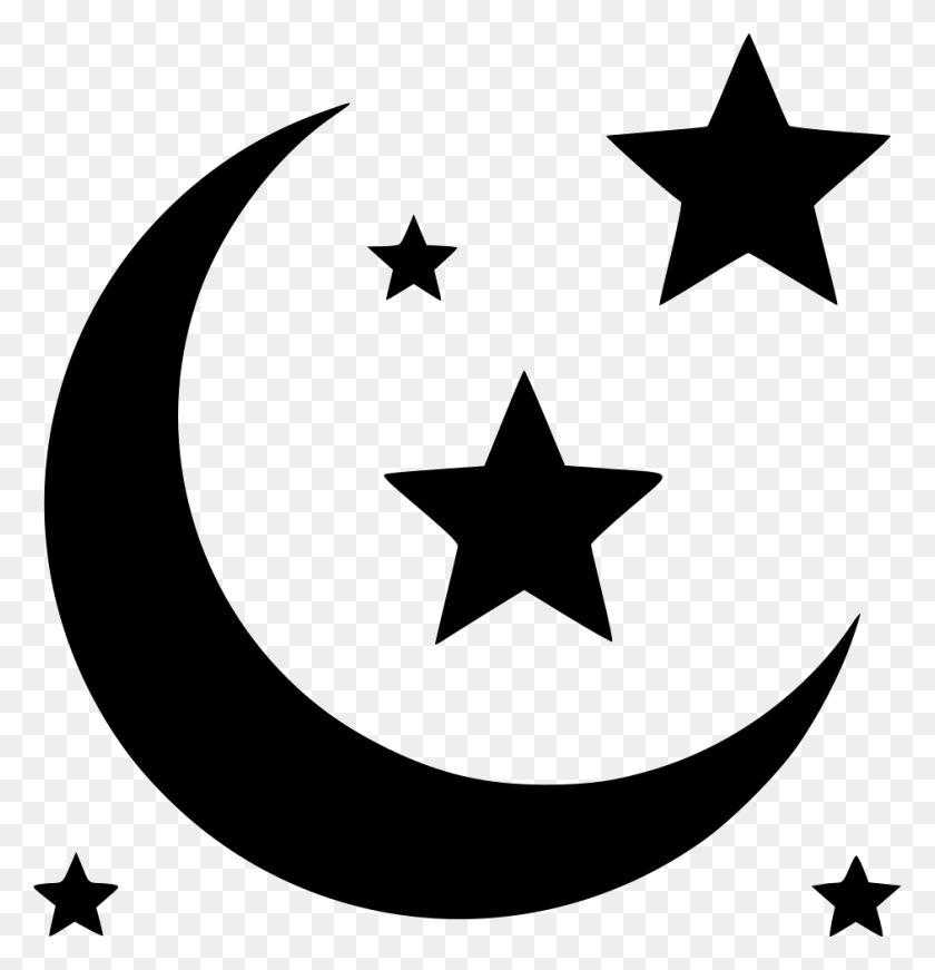 942x980 Moon And Stars Png Icon Free Download - Moon And Stars PNG