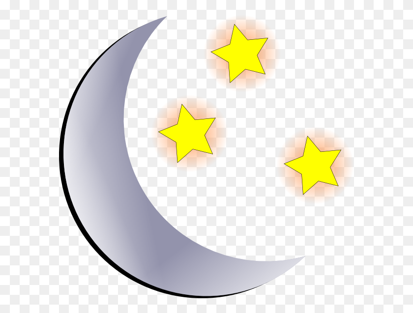 600x577 Moon And Stars Transparent Free Huge Freebie! Download - Moon Landing Clipart