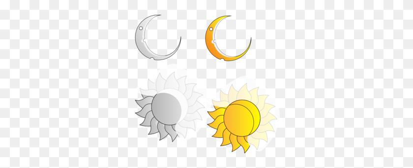 Moon And Sun Clip Art - Moon And Sun Clipart