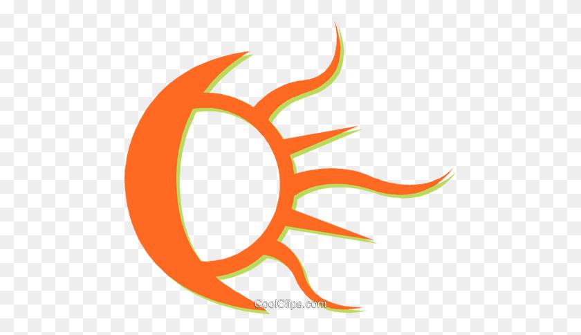 Moon And Sun Royalty Free Vector Clip Art Illustration - Moon And Sun Clipart
