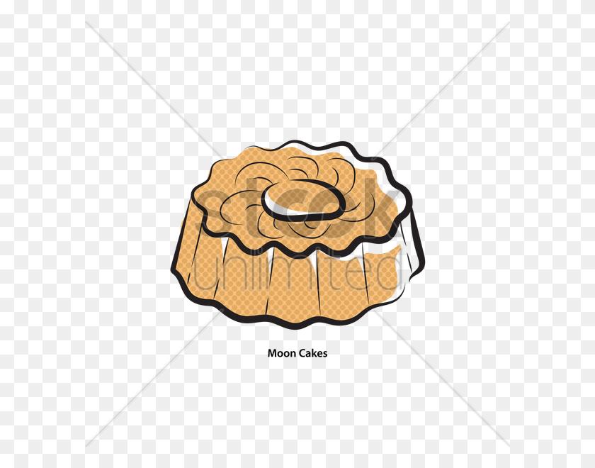 600x600 Moon Cake Vector Image - Mooncake Clipart