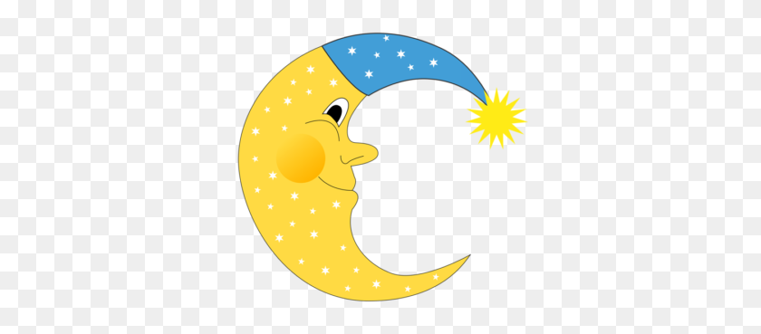 Moon Clip Art - Moon And Sun Clipart