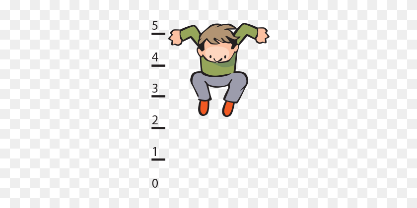 Moon Leap Beyond The Chalkboard - Long Jump Clipart