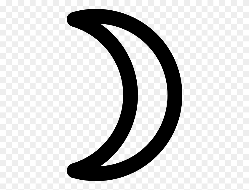 390x582 Moon Symbol Crescent Clip Art Free Vector - Moon Clipart