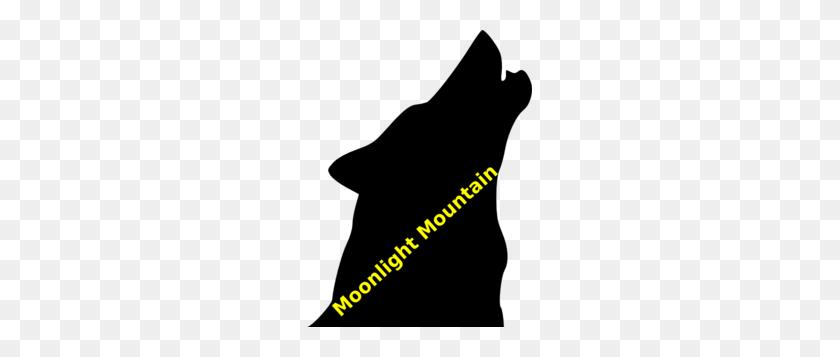 225x297 Moonlight Mountain Wolf Clip Art - Moonlight Clipart