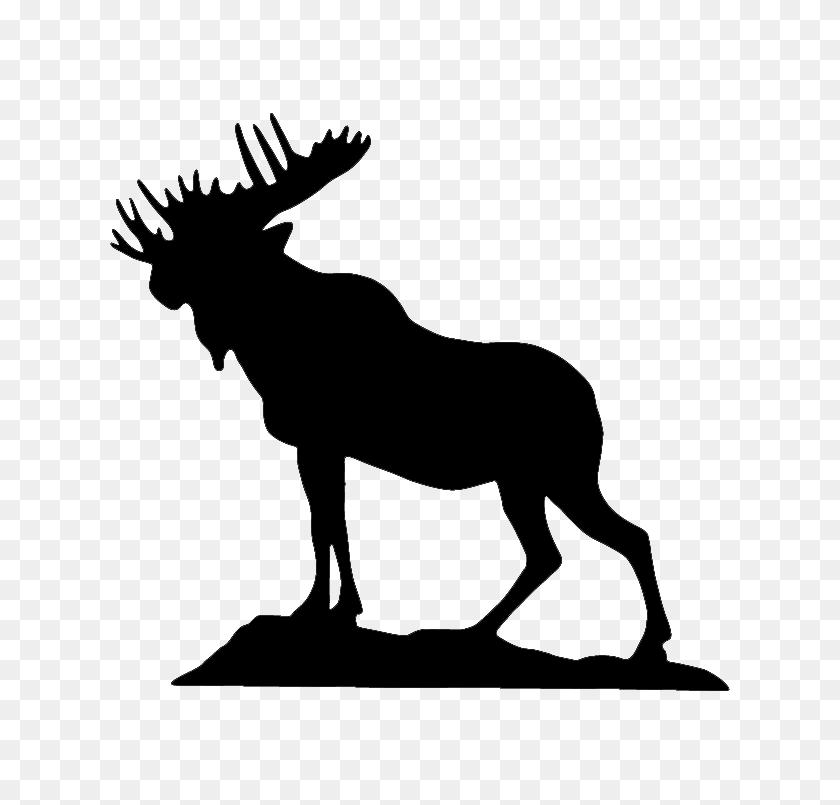 745x745 Moose - Moose Silhouette PNG