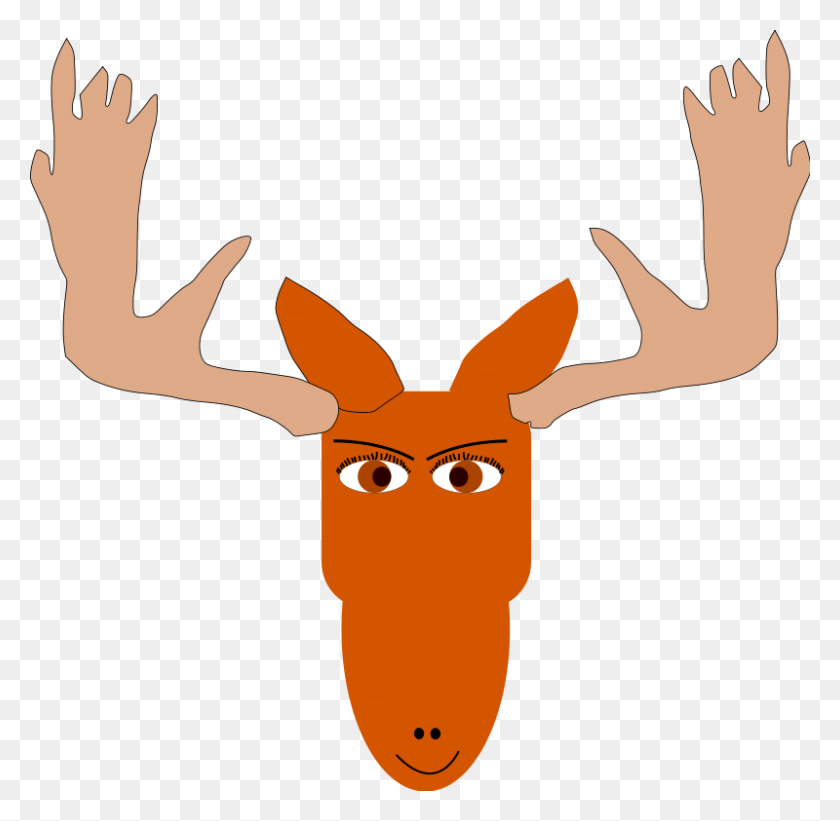 800x781 Moose Clip Art Royalty Free Animal Images Animal Clipart Org - Moose Head Clipart