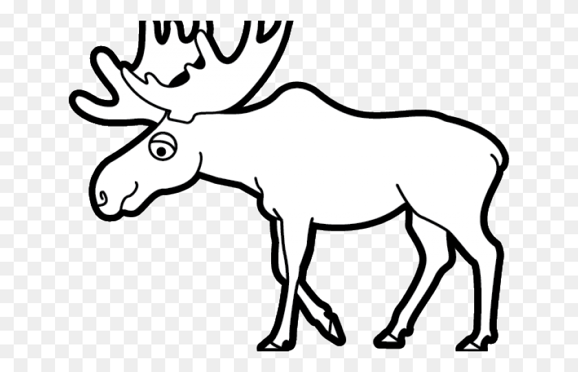 Moose Clipart Thanksgiving - Elk Clipart Black And White