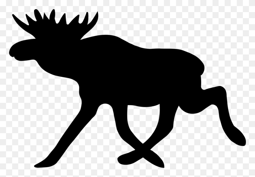 1114x750 Moose Deer Elk Symbol Computer Icons - Moose Clipart Black And White