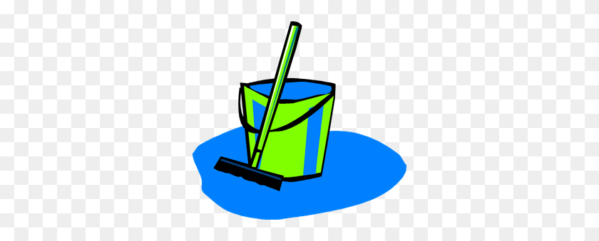 300x279 Mop And Bucket Blue Clipart Png For Web - Mop PNG