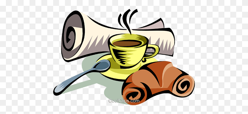 480x328 Morning Coffee Royalty Free Vector Clip Art Illustration - Morning Clipart