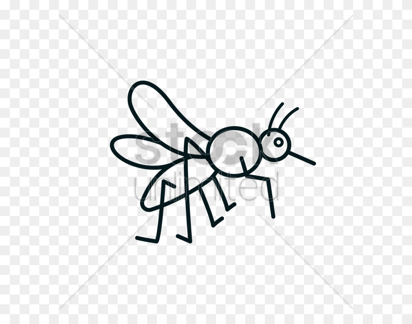 Mosquito Icon Vector Image - Mosquito Clipart Black And White