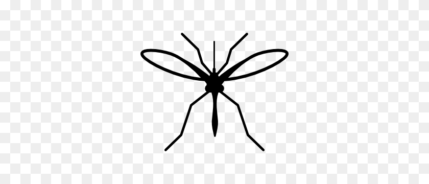Mosquito Silhouette Sticker - Mosquito Clipart Black And White