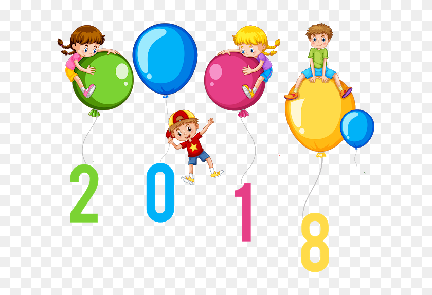 Most Popular Happy New Year Clipart Images With Difficult - New Year 2018 Clipart