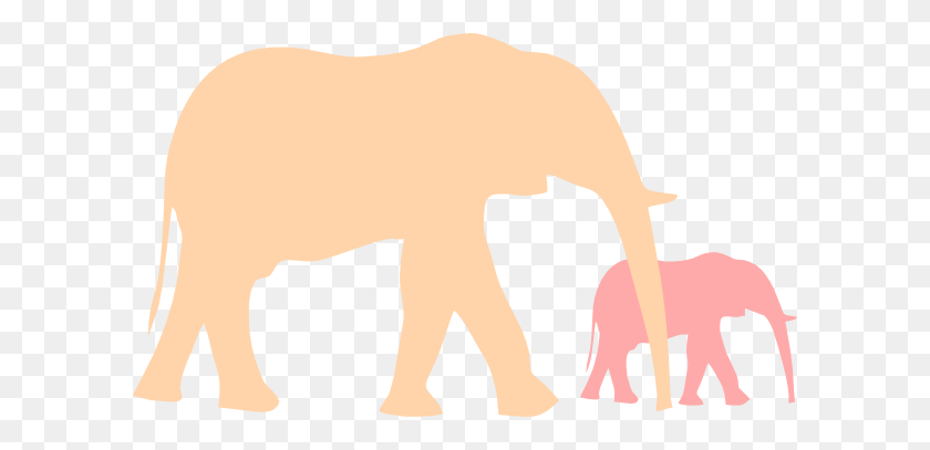Mother And Baby Elephant Clip Art - Mom And Baby Elephant Clipart