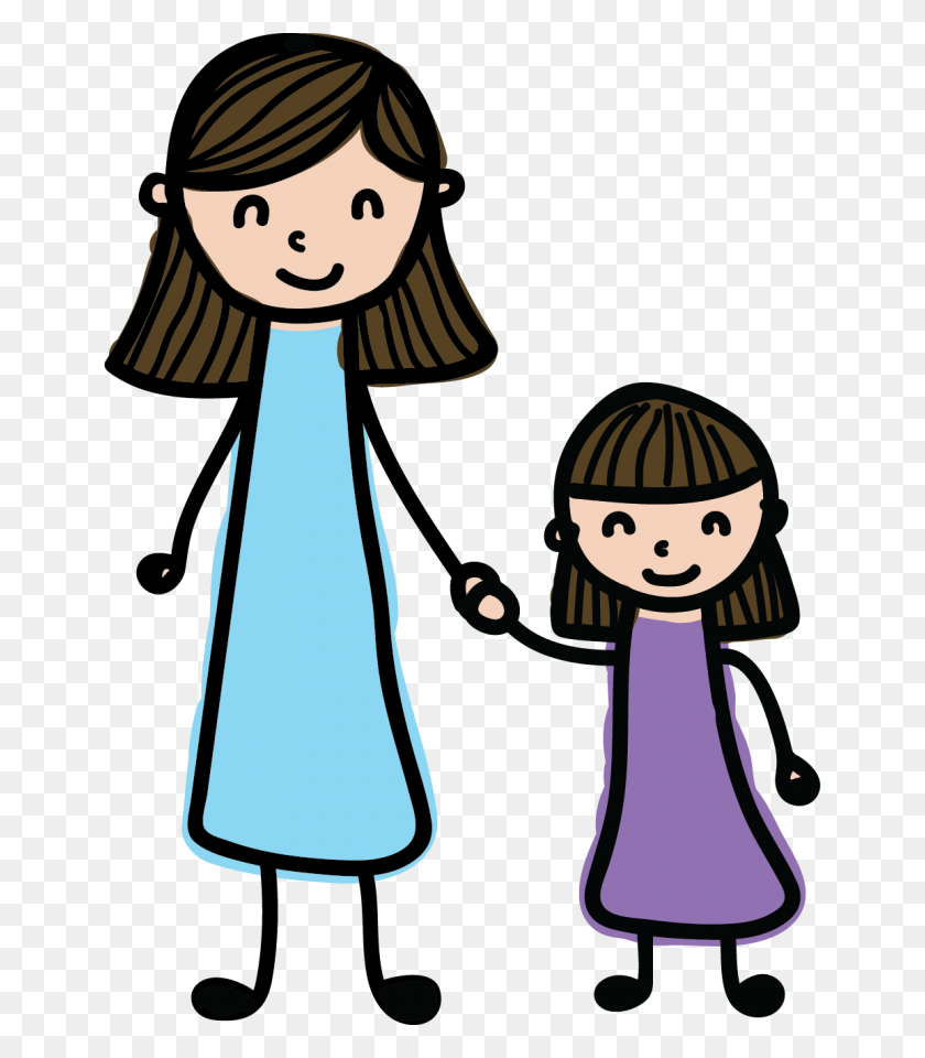 Mother Daughter Clipart Desktop Backgrounds - Mothers Day Clipart Black And White