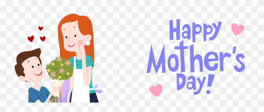 1024x390 Mother's Day Clip Art Free - Free Clipart For Funeral Programs
