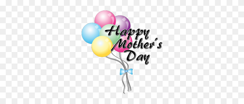 289x300 Mother's Day Clipart Balloon - Mama Clipart