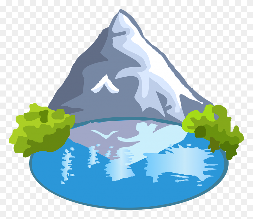 Mountain Lake Clip Art Related Keywords - Mountains Clipart PNG