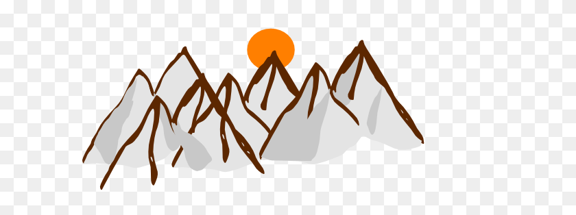 Mountain Range Clip Art Black And White - Mountain Clipart Black And White