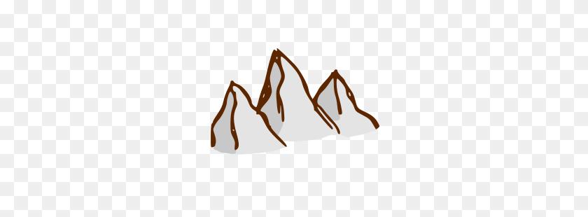 Mountain Range Clip Art Black And White - Mountain Man Clipart