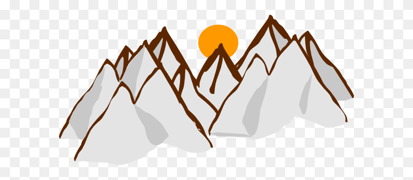 Mountain Range Sunset Clip Arts Download - Mountains Clipart PNG