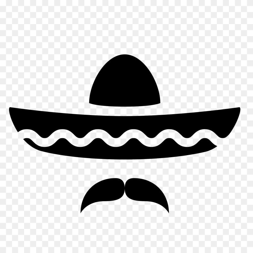 Moustache Clipart Sombrero - Pirate Hat Clipart