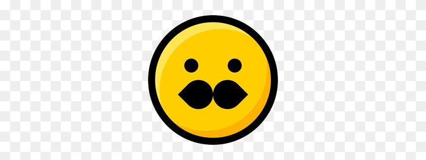 Moustache, Interface, Faces, Feelings, Emoji, Smileys, Emoticons - Shocked Emoji PNG