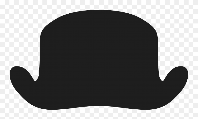 Movember Bowler Hat Png Clipart - White Hat PNG