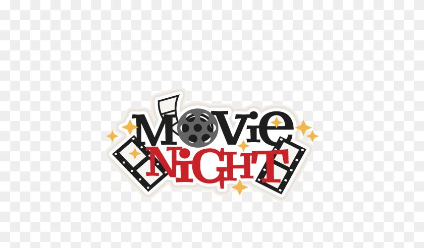 Movie Night Title Scrapbook Cute Clipart - Movie Night Clipart