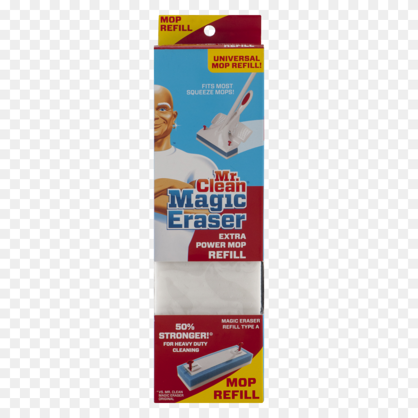 Mr Clean Magic Eraser Extra Power Mop Refill, Refill - Mr Clean PNG