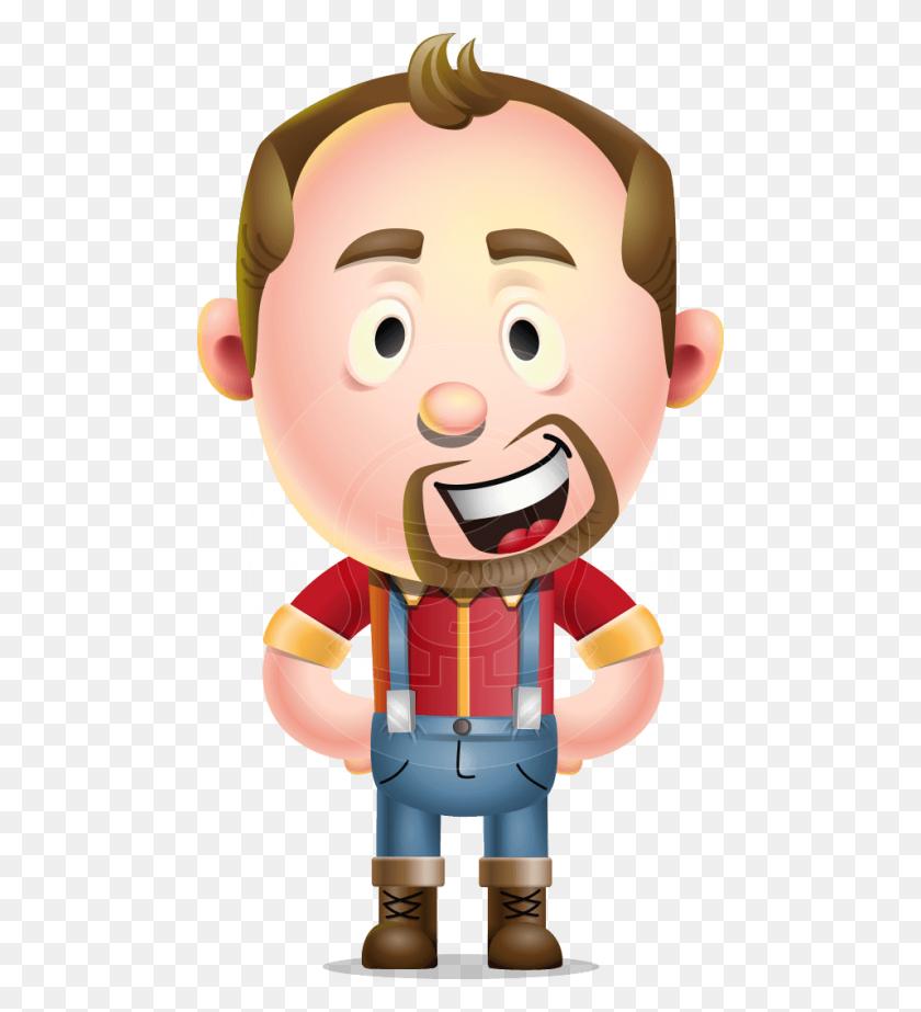 Mr Jack Lumberjack Vector Cartoon Character Graphicmama - Lumberjack PNG