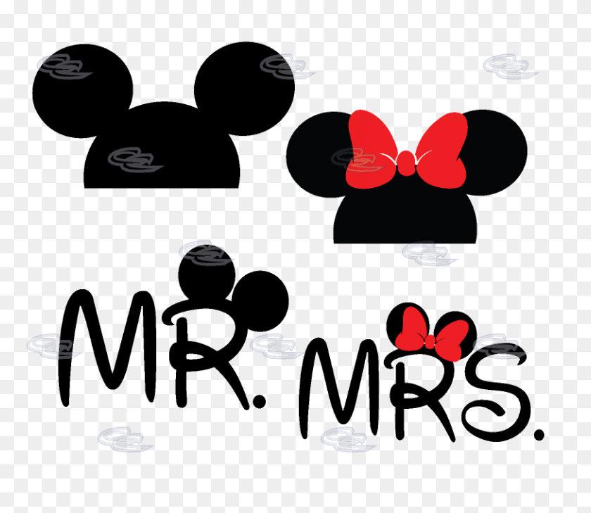Mr Mrs Disney Logo Clipart Clip Art Images - Minnie Mouse Head PNG