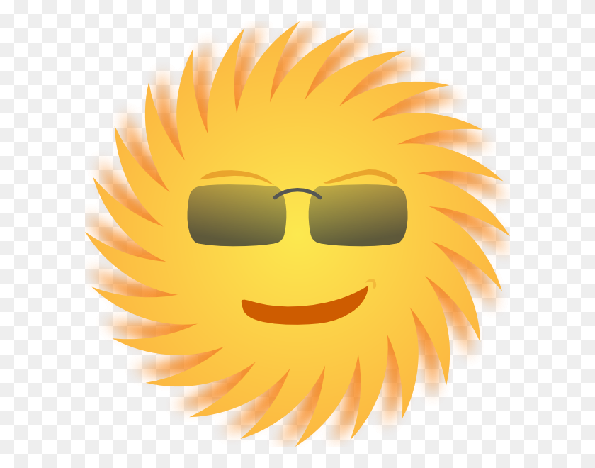 Mr Sun Clip Art Free Vector - Corner Sun Clipart