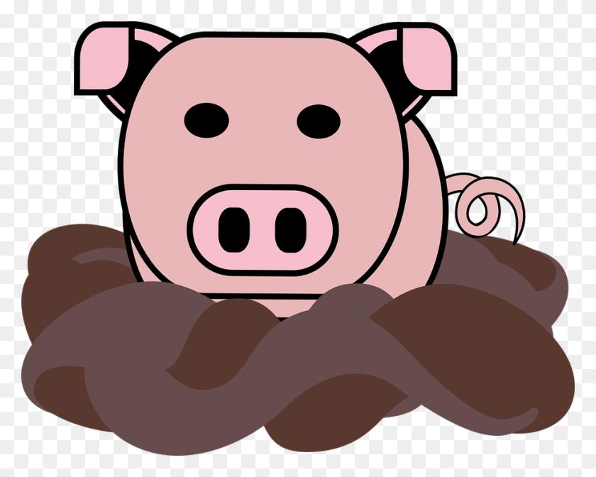 Mud Clipart Piggy - Mud Clipart