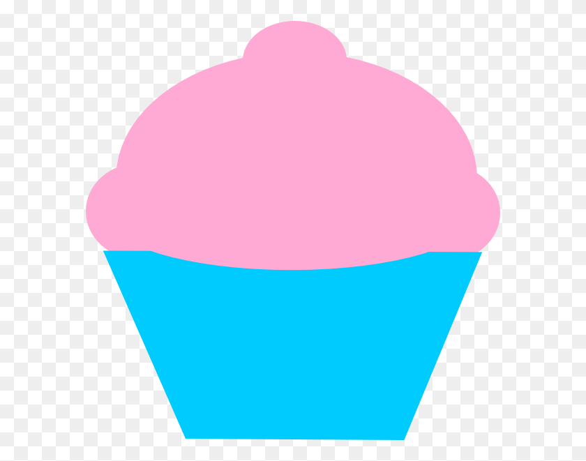 Muffin Clipart Pink Cupcake - Pink Cupcake Clipart