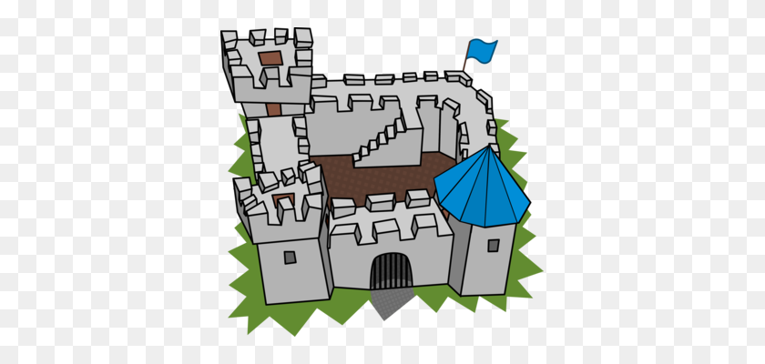 355x340 Muiden Castle Fortification Computer Icons Medieval Architecture - Moat Clipart