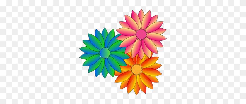 Multi Coloured Daisies Clip Art - Daisy Clipart PNG