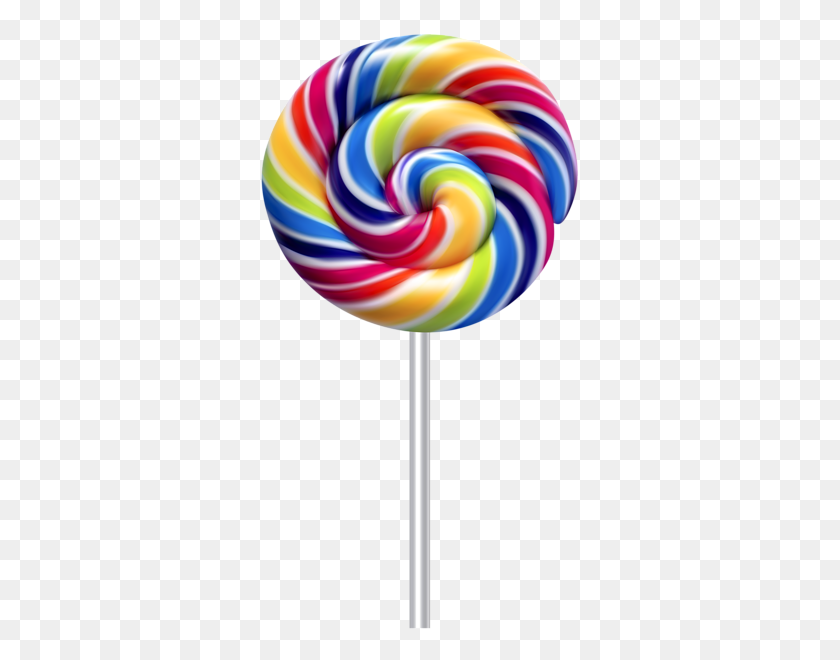 323x600 Multicolor Swirl Lollipop Transparent Clip Gallery - Lollipop Clip Art